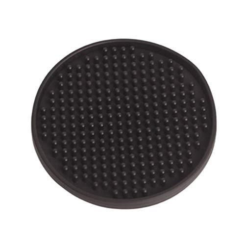 Aislamiento antideslizante Estera de derrame colocante placa de goma barra de cristal Material de la barra para la taza de la tabla Cerveza a prueba de agua Anti- Para cocina casera ( Color : Black )