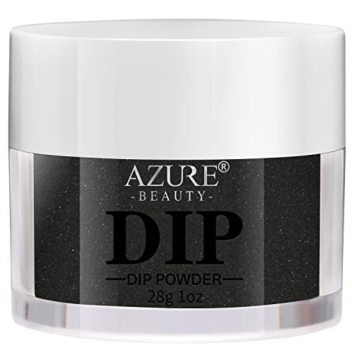 AZUREBEAUTY Dip Powder Black Color(1oz) for French Nail Manicure Nail Art, Non-Tocix & Odor-Free, without UV LED Lamp Cured, Long...