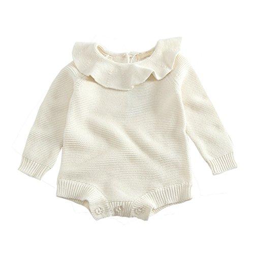Barboteuse en tricot pour Bébé,Brightup Bébé Enfant Combinaison manches longues en tricot , Automne Hiver Pull
