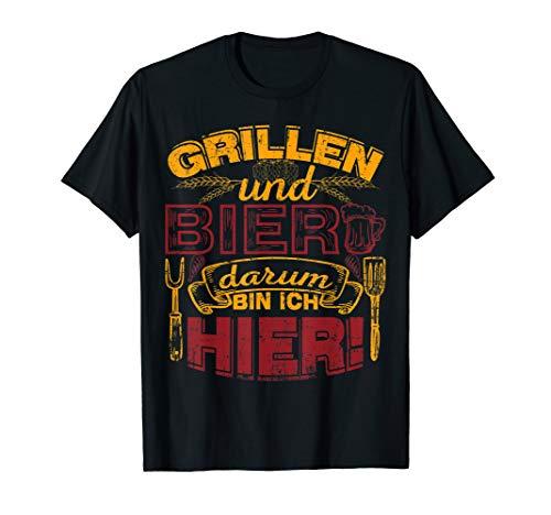 Koch Herren Grill räuchern genießen BBQ Party Geschenk   T-Shirt