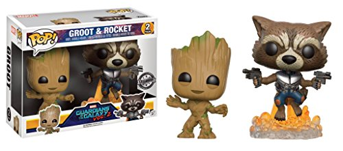 Funko POP! Marvel Guardianes de la galaxia 2: Groot + Rocket Raccoon