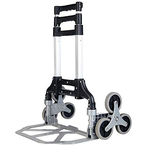 YAODFYL Aluminum Alloy Multi-Functional Hand Truck with Anti Puncture Silent Wheel and 75 kg Capacity,Black Sack Trolley Duty for Luggage, Travel, Shopping, Auto, Moving And Office Use