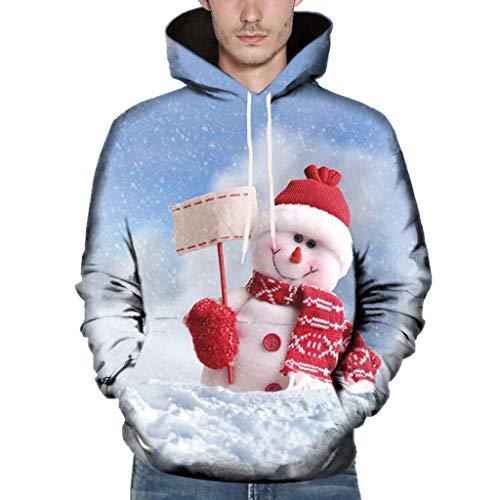 Komise Christmas Couples Weihnachten 3D gedruckte Langarm Kapuzenbluse Sweatshirts