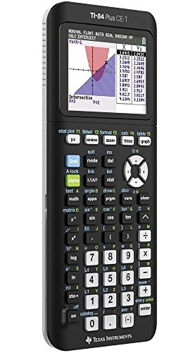 Texas Instruments 84Plce/Tbl/3E5 Graphing Calculator, Nero