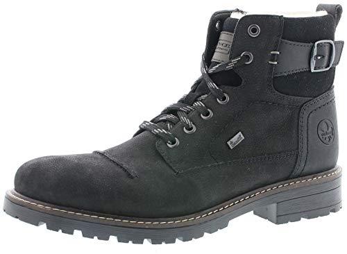 Rieker Herren Stiefel 32030, Männer Winterstiefel,riekerTEX, Winter-Boots schnürstiefel tex Men,schwarz,44 EU / 9.5 UK