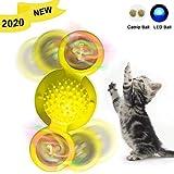 風車猫のおもちゃインタラクティブな猫のおもちゃサクションカップ付き室内猫のための子猫のおもちゃの回転くすぐったい猫ヘアブラシとキャットニップとLEDライト