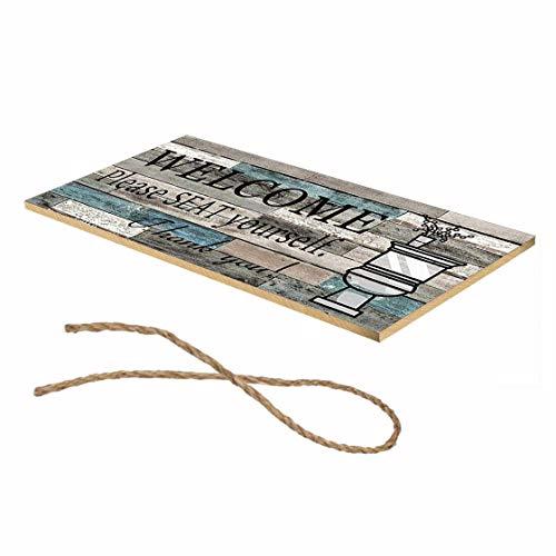 Preisvergleich Produktbild Jessicadaphne Wooden Crafts Weihnachtsdekoration Willkommensbriefe Plaque Anhänger Zeichen Home Crafts Dekoration Listing