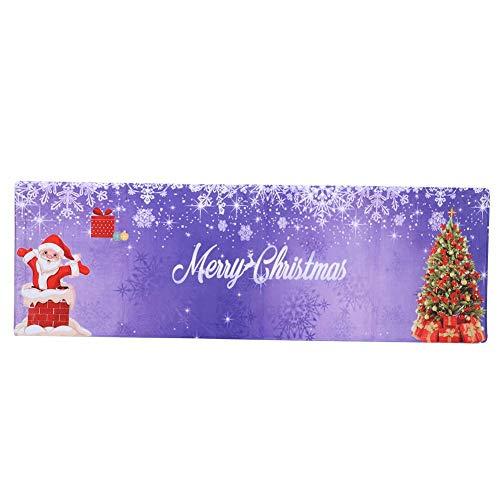Topincn Voetmat, voor kerst, flanel, vloer, tapijt, deurmat, absorberende matten voor thuis, keuken, badkamer, decoratie, 60 x 180 cm, meerdere maten verpakt