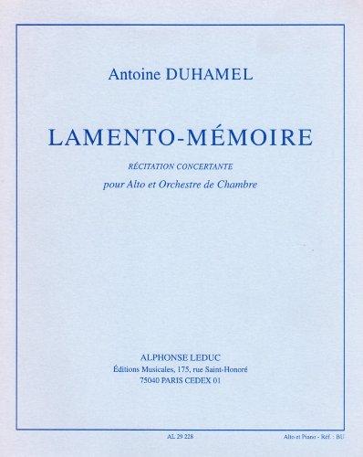 ANTOINE DUHAMEL: LAMENTO-MEMOIRE (VIOLA & PIANO)