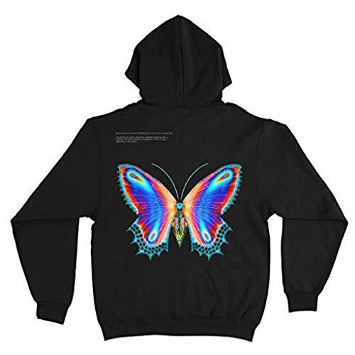 WAWNI Halsey - Sudadera con capucha y diseño de mariposa, multicolor