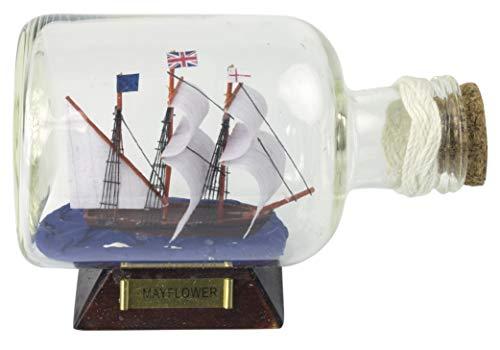 14cm Mayflower Schip in Fles