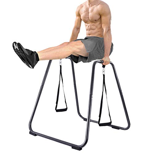 Lanhui Dip Station Chin Up Bar Core Power Tower Pull Push Home Gym Fitness Equipment,Indoor Horizontal Bar Pull-Ups Home Single Parallel Bars Fitness Trainer Split Parallel Bars Push-Up Bracket