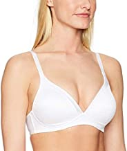 Warner's Women's Blissful Benefits NO Side Effects Smoothing Wirefree Bra, White, 36B