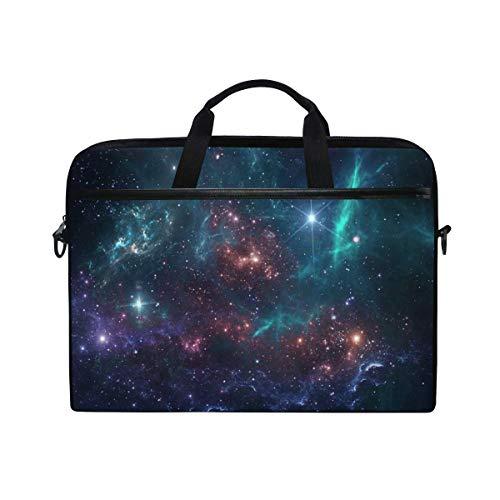 Cosmos Planets Galaxy Starry Stars 14 Inch Laptop Case Shoulder Bag Crossbody Briefcase With Shoulder Strap Handle