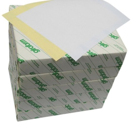 Carbonless Paper 2-Part 5 Reams / 2500 Sheets (1250 sets) Bright White / Canary 8 1/2 x 11