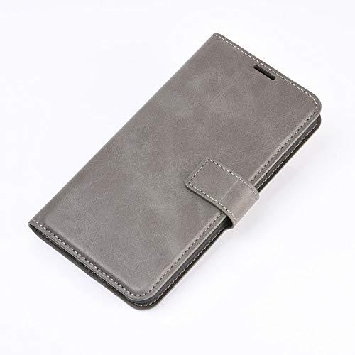 DAMAIJIA für Samsung A32 5G Hüllen Klapphülle PU Leder Silikon Wallet Schutzhülle Schutz Mobiltelefon Flip Back Cover für A32 Samsung Galaxy A32 5G A326B 2021 Tasche Handy Zubehör (Grey)