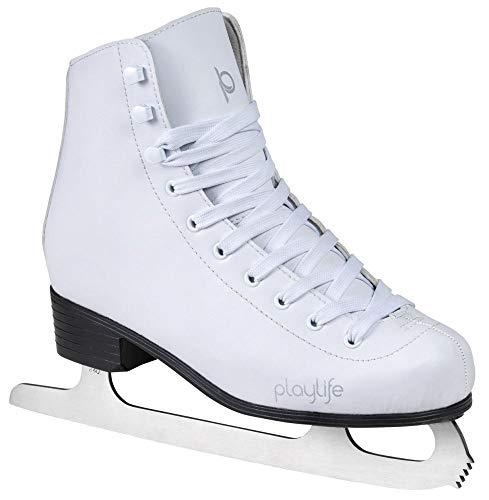 Playlife Eiskunstlauf Schlittschuhe Classic White | Knöchelpolster | Damen | Größe 37 weiß