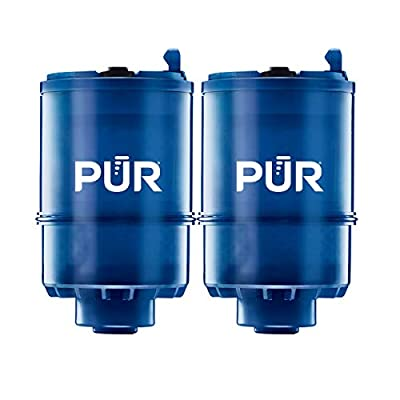 PUR RF9999 MineralClear Faucet Water Filter Replacement for Filtration Systems, 2 Pack, Blue, 2 Count