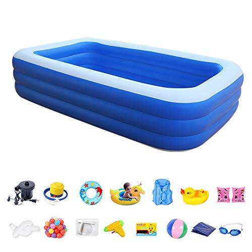 DSYYF Aufblasbarer Familienpool mit Spielzeug, Baby-Dick-Marineball-Pool-Poolbad für Kinder und Erwachsene,260 * 160 * 68cm