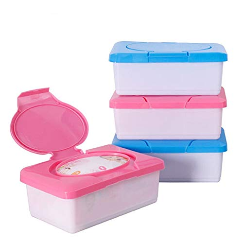 LICHUAN Caja de Pañuelos 1PCS plástico en húmedo y en seco del Tejido Caja Toallitas Nuevo Pop-up Diseño del hogar del sostenedor del Tejido Accesorios Rosa Azul Decoración hogareña (Color : Red)