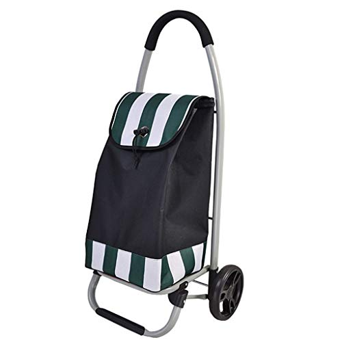 Rollatoren Einkaufstrolleys Shopping Trolley Faltbare Einkaufswagen Haushalts Trolley Autogepäckanhänger Kann 20 Kg Bär (Color : Black, Size : 90 * 45 * 33cm)