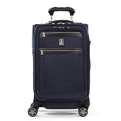 Travelpro Platinum Elite-Softside Expandable Spinner Wheel Luggage, True Navy, Carry-On 21-Inch