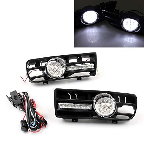 Areyourshop 2 x Nebelscheinwerfer, 5 LEDs, Frontstoßstange, DRL-Lampe für 99–04 Golf MK4 GTI TDI