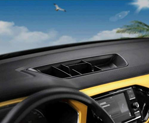 ASDDD Auto Inner Dashboard Storage Box, für Volkswagen VW T-Cross 2019 2020 Multifunktionalen Konsolen-Aufbewahrungsbox, Car Interior Rutschfestes Behälterbehälter Zubehör