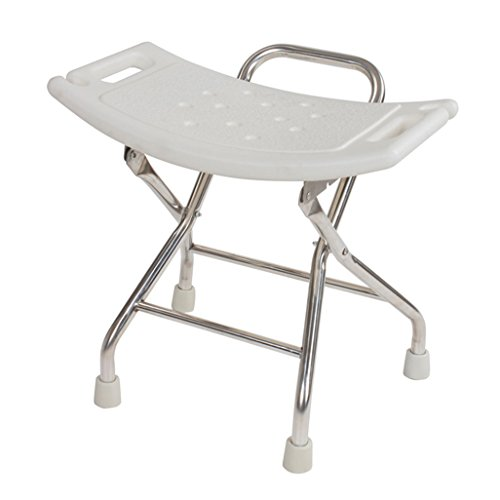 Opvouwbare douchestoel 304 roestvrij staal inklapbare douchestoel kruk voor oudere/gehandicapte antislip douchestoel kruk met veiligheidsslot en handvat badstoel in wit 100 kg