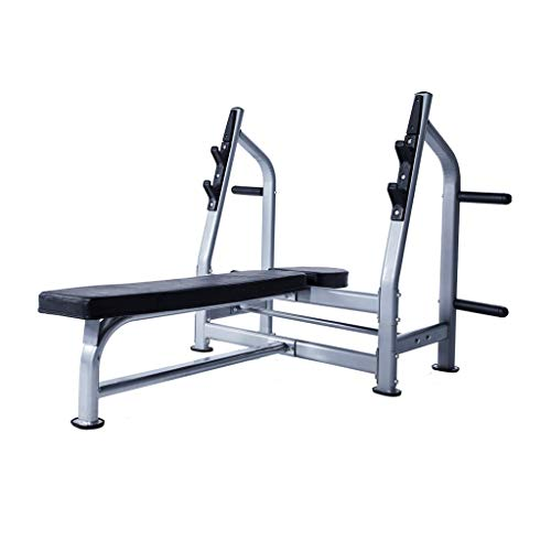 LZL Soportes Jaula de Sentadillas, 1000lbs MAX LoadAdjustable sentadilla Power Bar Soporte Peso Banco de Peso de elevación de Cama-Press de banca Home Gym Equipment (Color : Silver)