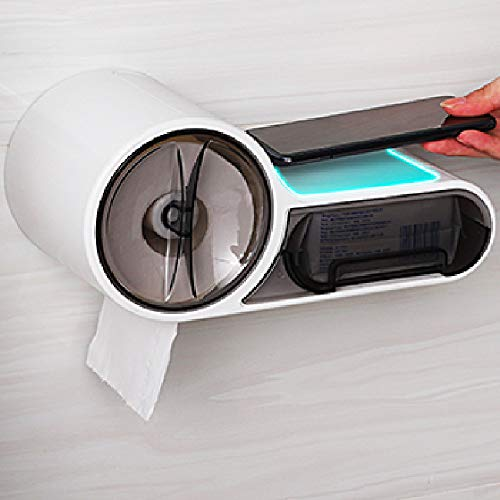 Dido´s Portarrollos para Papel Higiénico Icono WC, dispensador de Papel de baño Adhesivo,Accesorios baño sin Taladro, Impermeable, Porta Rollo de Papel higiénico Aseo Pared.