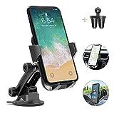車載ホルダー AIKELA スマホホルダー 車載スタンド 携帯電話ホルダー 3in1 粘着ゲル吸盤式 エアコン吹き出し口式 ワンタッチ着脱 360度回転可能 取付簡単 iPhone Huawei Samsung Sonyなどに対応