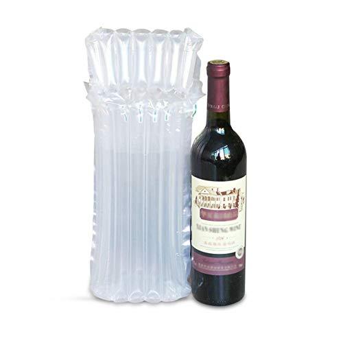 25 Bolsas Protectoras De La Botella De Vino Inflables, La Envoltura Inflable Del Cojín De La Burbuja Para Las Botellas De Vidrio En El Transporte, Las Mangas De Embalaje Llenas De Aire Con La Bomba