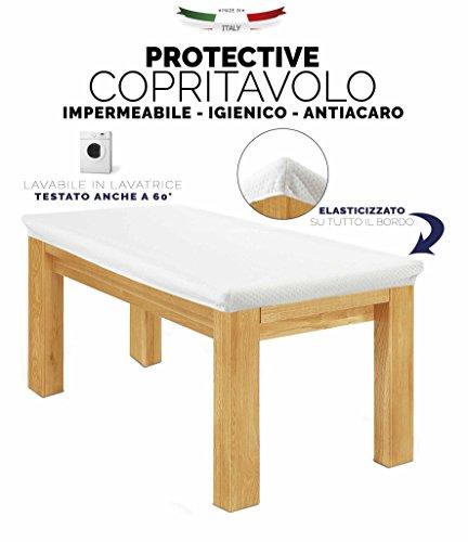 ... PROTECTION DE TABLE BLANC QUALITE EPAISSEUR SUPERIEUR ANTIDERAPANT TOCADIS