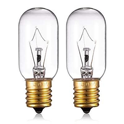 Light Bulb for LG Microwave Oven - Microwave Light Bulb Lamp for LG Frigidaire Kenmore Whirlpool GE Over the Range Microwave, Dimmable with 125V 30W E17 Base, Kitchen Night Light, Repalces 6912W1Z004B