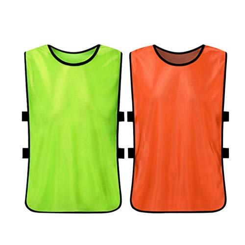 CLISPEED 2 stuks Vest Scrimmage Pinnies tricots trainingsvest voor kinderen jongens sport voor volwassenen basketbal voetbal volleybal