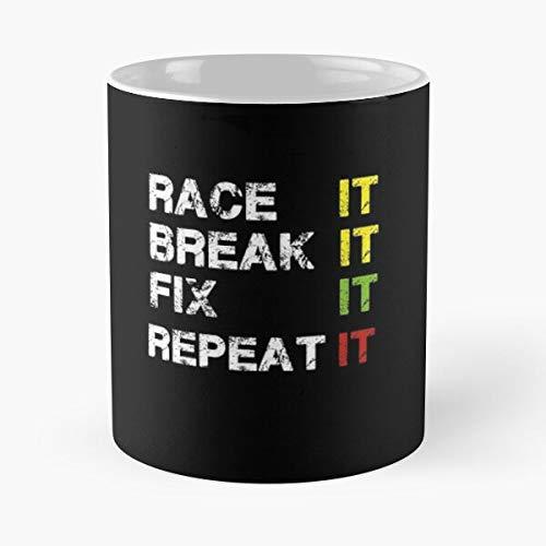 Race It Break Fix Repeat Funny Christmas Tree Drag T-shirt Classic Mug