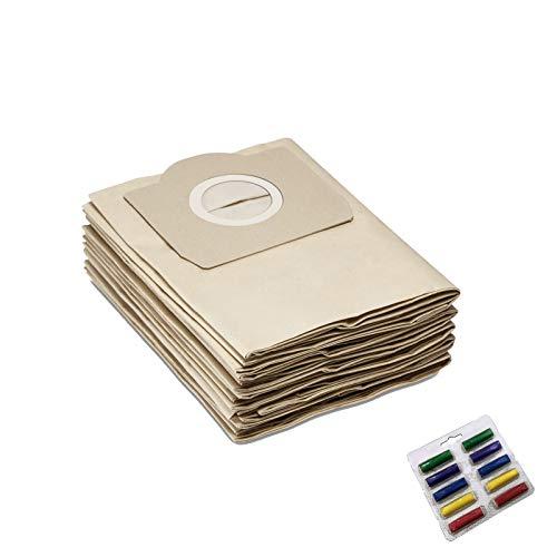 Sacchetti di ricambio da 8 pezzi compatibili con Karcher WD3 WD3200 WD 3300 MV3 A2204 SE4001 6.904-051 6959-130 Ricambi per aspirapolvere Accessori
