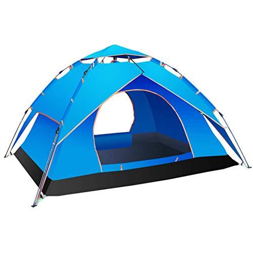LUSHUN Campingzelt, Pop Up Wurfzelt für 3-4 Personen, Moskitoschutz, Wasserdicht, UV Schutz, Igluzelt mit Vorzelt, für Familiengarten Camping Familiengarten Angeln