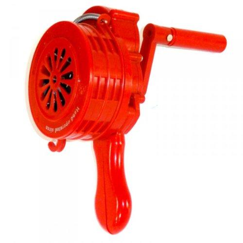 Sirene manuell Handsirene - 110 dB - ABS Kunststoff - Alarm THW Feuerwehr ROT