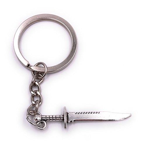 H-Customs Dolch Messer Schwert Ritter Schlüsselanhänger Anhänger Silber aus Metall