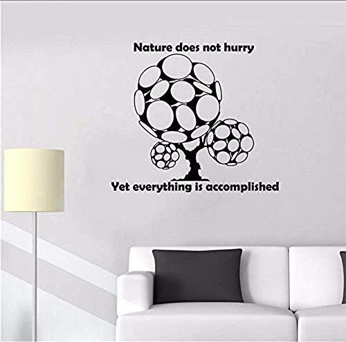 DIY Muursticker PVC Vinyl Cartoon Home Decoratie Wandschansen Boom Natuur Inspiratie Quote Woord Wijze Vinyl Sticker Art Deco Poster ja nee 65 x 58 cm