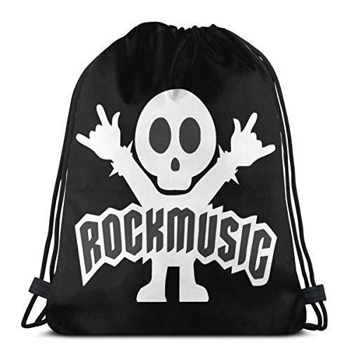 Rock Music Drawstring Backpack Rucksack Shoulder Bags Gym Bag