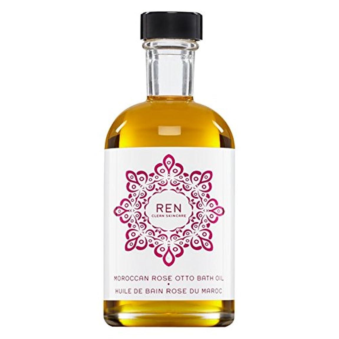 橋星作動するRenモロッコは、バスオイルの100ミリリットルをオットーローズ (REN) (x2) - REN Moroccan Rose Otto Bath Oil 100ml (Pack of 2) [並行輸入品]