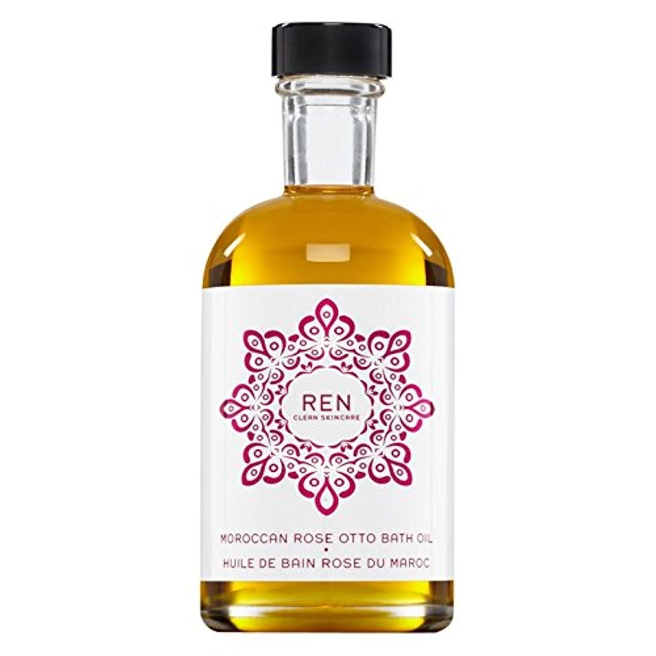 じゃない侵略改善Renモロッコは、バスオイルの100ミリリットルをオットーローズ (REN) - REN Moroccan Rose Otto Bath Oil 100ml [並行輸入品]