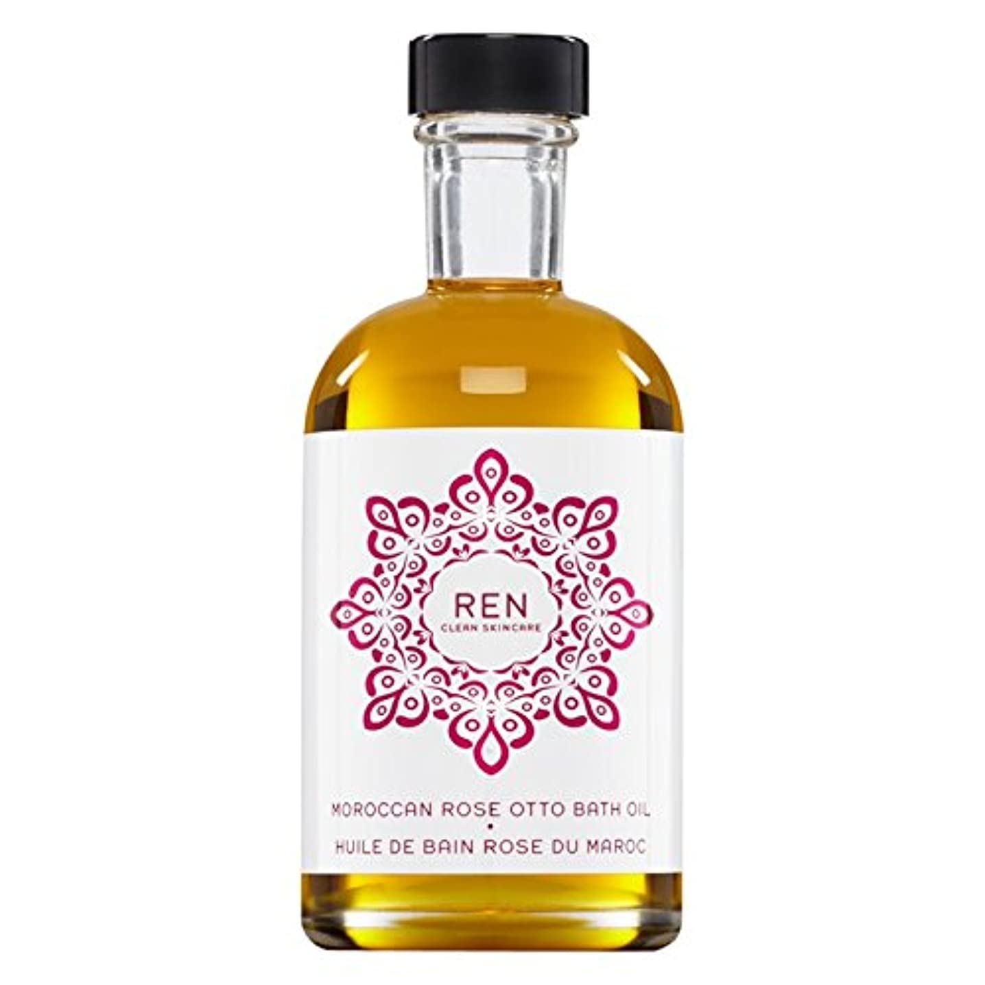 休日ペア憂鬱Renモロッコは、バスオイルの100ミリリットルをオットーローズ (REN) (x6) - REN Moroccan Rose Otto Bath Oil 100ml (Pack of 6) [並行輸入品]