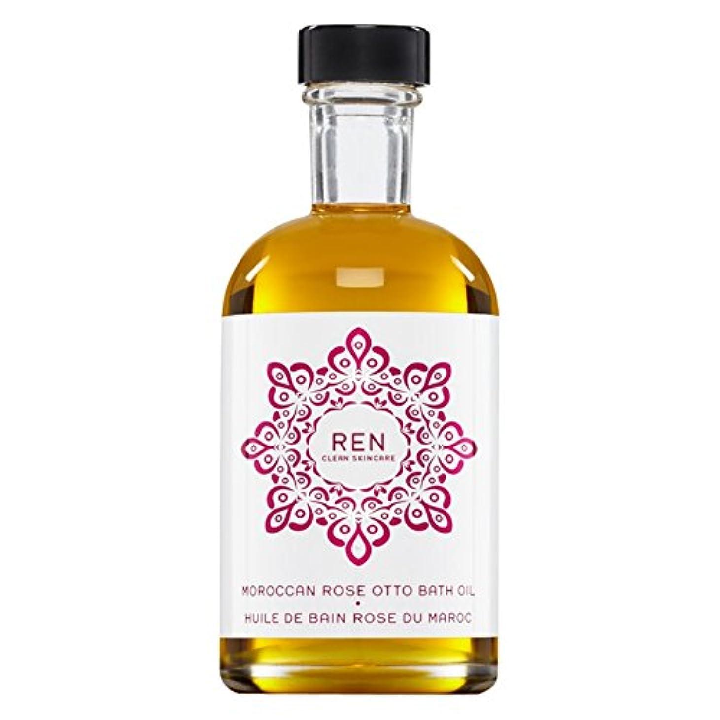 耐えるゴージャス恐ろしいですRenモロッコは、バスオイルの100ミリリットルをオットーローズ (REN) - REN Moroccan Rose Otto Bath Oil 100ml [並行輸入品]