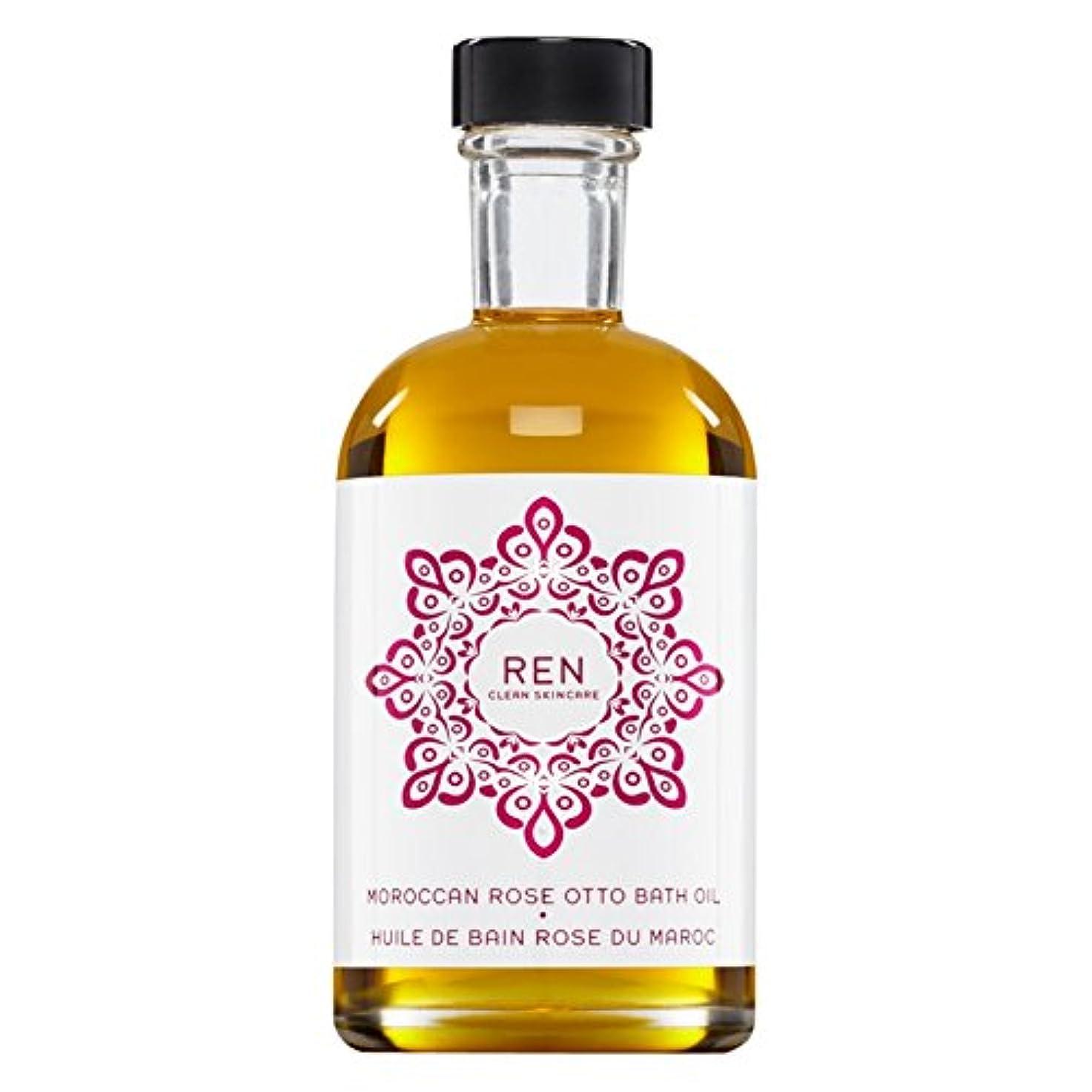 文明化こんにちは引き潮Renモロッコは、バスオイルの100ミリリットルをオットーローズ (REN) - REN Moroccan Rose Otto Bath Oil 100ml [並行輸入品]