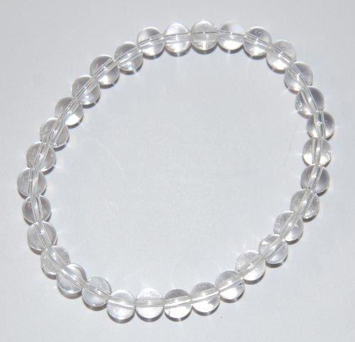 Unbekannt Edelstein-Armband, Kugeln, Bergkristall, Ø 6 mm