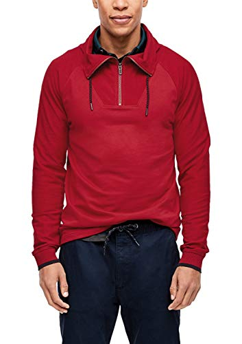 s.Oliver Herren 13.909.31.6719 Langarmshirt, Rot (Uniform Red 3660), Large (Herstellergröße: XL)